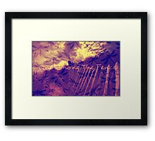One Among The Fence 3 Framed Print