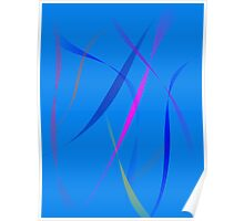 Morning Wind Cerulean Blue Poster