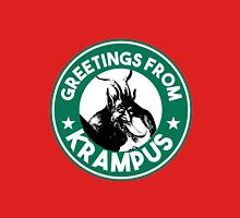 Greetings From Krampus - Coffee Cup Design with the Christmas Devil  Unisex T-Shirt