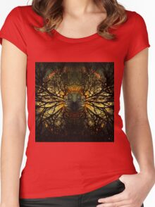 INTO THE WILD WOOD Women's Fitted Scoop T-Shirt