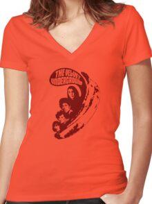 VU Banana (brown) Women's Fitted V-Neck T-Shirt