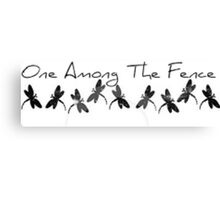 One Among The Fence 4 Canvas Print