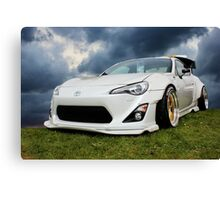 White Toyota GT 86 Canvas Print