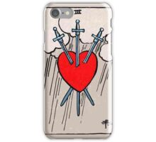 Three of Swords Tarot Card  iPhone Case/Skin