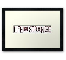 Life is Strange logo Framed Print