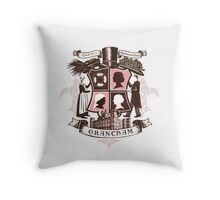 Grantham coat of arms (pink) Throw Pillow