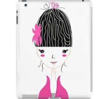 Beautiful Japan Girl stylized vector Illustration iPad Case/Skin