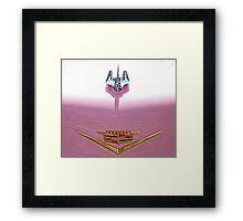 Pink Cadillac Bling Framed Print