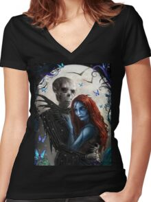 jack nightmare Women's Fitted V-Neck T-Shirt
