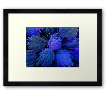 Blue is the columns Framed Print
