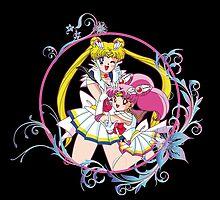 Sailor Moon & Sailor ChibiMoon by Rickykun