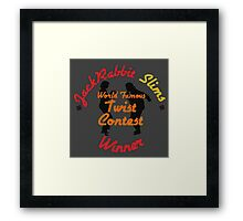 JackRabbit Slims Twist Contest Winner - Iphone / Ipod / Print / Shirt Framed Print