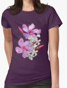 Flowers pink and white Womens Fitted T-Shirt
