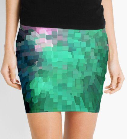 Green columns Mini Skirt