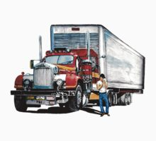 Truck and trailer One Piece - Short Sleeve