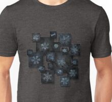 Snowflake collage - Dark crystals 2012-2014 Unisex T-Shirt