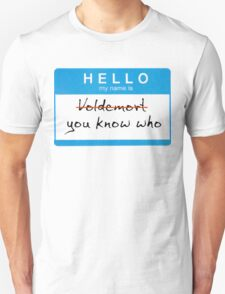 Hello my name is Voldemort T-Shirt