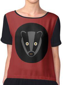 Black Badger Chiffon Top
