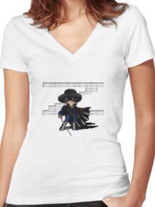 16 Bit Zorro Women's Fitted V-Neck T-Shirt