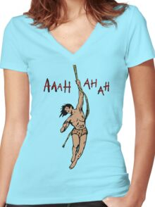 Tarzan Women's Fitted V-Neck T-Shirt