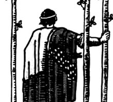 Black and White Three of Wands Tarot Card  Sticker