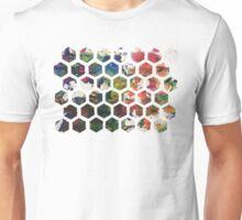 Hexagonal Ink (Horizontal) Unisex T-Shirt