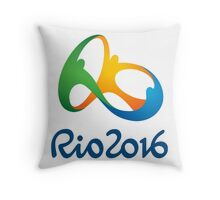 Rio 2016 Logos Throw Pillow
