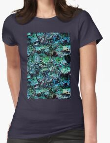 Turquoise Garden of Glass Womens Fitted T-Shirt