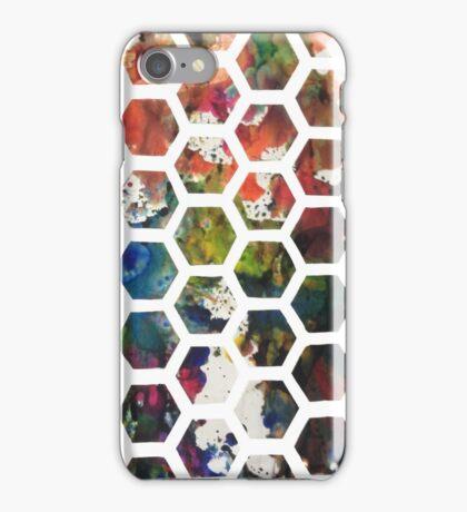 Hexagonal Ink (Vertical) iPhone Case/Skin