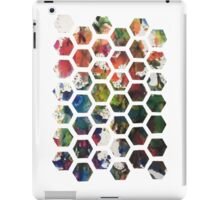 Hexagonal Ink (Vertical) iPad Case/Skin