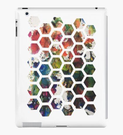 Hexagonal Ink (Vertical) iPad Case/Skin