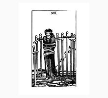 Black and White Eight of Swords Tarot Card  Unisex T-Shirt