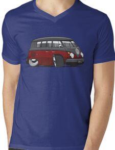 VW T1 Microbus cartoon black/red Mens V-Neck T-Shirt
