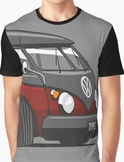 VW T1 Microbus cartoon black/red Graphic T-Shirt