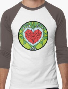 Stained Heart Container Men's Baseball ¾ T-Shirt