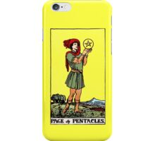 Page of Pentacles Tarot Card  iPhone Case/Skin
