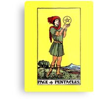 Page of Pentacles Tarot Card  Metal Print