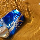 Budweiser Beer Can  In The Arkansas River  by WildestArt