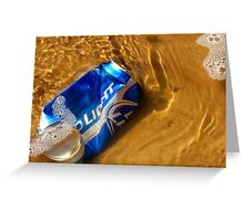 Budweiser Beer Can  In The Arkansas River  Greeting Card
