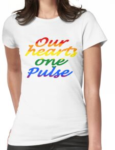 Sayword!, Our hearts one Pulse lgbtq Womens Fitted T-Shirt