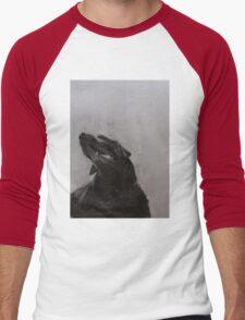 Black and white drawing, Labrador Retriever Men's Baseball ¾ T-Shirt