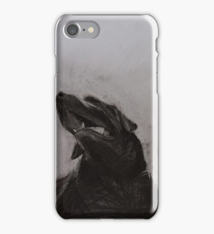 Black and white drawing, Labrador Retriever iPhone Case/Skin