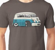 VW T1 Microbus cartoon turquoise Unisex T-Shirt