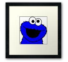 Cookie Monster Smile Framed Print