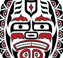 The Traveler - Original Haida, Tlingit Sea Turtle Art - Red Sticker
