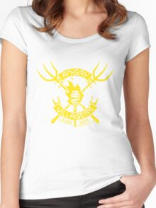 Angry Villagers (yellow/red) Women's Fitted Scoop T-Shirt