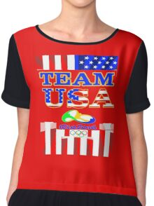Team USA Rio 2016 Olympics Chiffon Top