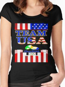Team USA Rio 2016 Olympics Women's Fitted Scoop T-Shirt