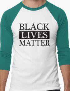 Black Lives Matter (Black) Men's Baseball ¾ T-Shirt