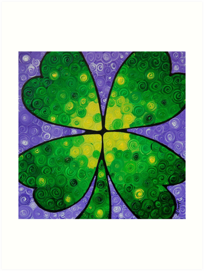 Lucky One - Four Leaf Clover - Sharon Cummings by Sharon Cummings